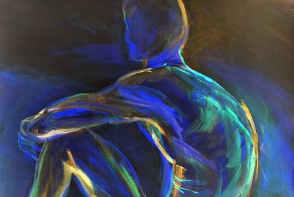 Christine Koellhofer_Aquarius - electric blue no. 1_70x100cm_2014_AcrylMix auf Leinwand komp