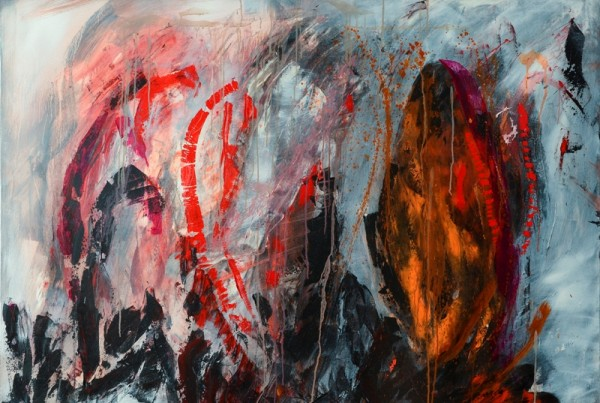 Christine Koellhofer_Leaving Sodom And Gomorrha no. 01_100 x 140 cm_acrylics and oil on canvas_2014 800p